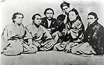 1867, Japan - Kaientai was the first modern corporation in Japan, founded by Sakamoto Ryoma. It functioned as Sakamoto's private navy and was at times more powerful than the local government.  (Photo by Kingendai Photo Library/AFLO)