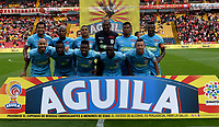 BOGOTA - COLOMBIA - 25 - 02 - 2018: Los jugadores de Jaguares F. C., posan para una foto, durante partido de la fecha 5 entre Independiente Santa Fe y Jaguares F. C., por la Liga Aguila I 2018, en el estadio Nemesio Camacho El Campin de la ciudad de Bogota. / The players of Jaguares F. C., pose for a photo during a match of the 5th date between Independiente Santa Fe and Jaguares F. C., for the Liga Aguila I 2018 at the Nemesio Camacho El Campin Stadium in Bogota city, Photo: VizzorImage / Luis Ramirez / Staff.