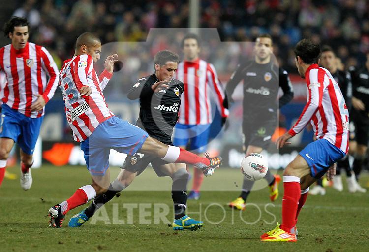 Madrid (05/02/2012) LIGA BBVA.Atletico de Madrid- Valencia C.F...MIRANDA, PIATTI.....