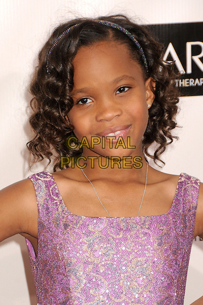 Quvenzhane Wallis.18th Annual Critics' Choice Movie Awards - Arrivals held at Barker Hangar, Santa Monica, California, USA, .10th January 2013 .portrait headshot purple  hairband .CAP/ADM/BP.©Byron Purvis/AdMedia/Capital Pictures.