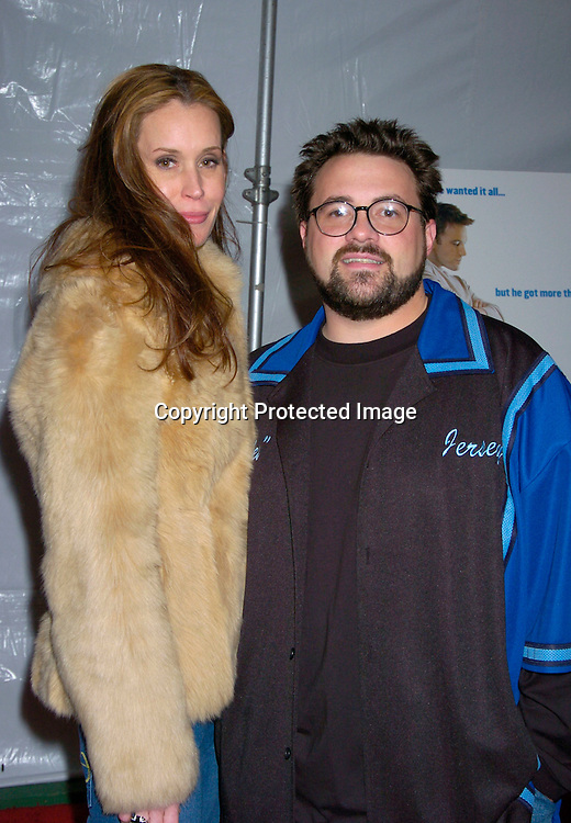 "Kevin Smith and wife Michelle ..at The New York Premiere of "" Jersey Girl"" on March 9, 2004 at the Ziegfeld Theatre. Photo by Robin Platzer, Twin Images"