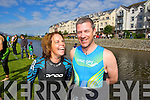 Pictured at the Tralee Tri Grand Prix Triathlon on Saturday morning were front l-r: Fiona Leahy and Conor Murphy (Tralee).