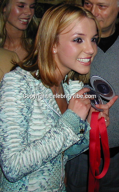 Britney Spears.<br /> Britney Spears' 18th Birthday Party.<br /> Halo Bar and Restaurant.<br /> New York, NY, USA.<br /> December 01, 1999.<br /> To license this image please call (323) 325-4035; or<br /> Email: CelebrityVibe@gmail.com ; <br /> website: www.CelebrityVibe.com<br /> **EXCLUSIVE**
