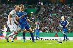 10.08.2019, wohninvest WESERSTADION, Bremen, GER, DFB-Pokal, 1. Runde, SV Atlas Delmenhorst vs SV Werder Bremen<br /> <br /> im Bild<br /> Christian Groß / Gross (Werder Bremen #36) im Duell / im Zweikampf mit Leon Lingerski (SV Atlas Delmenhorst #03), <br /> <br /> während DFB-Pokal Spiel zwischen SV Atlas Delmenhorst und SV Werder Bremen im wohninvest WESERSTADION, <br /> <br /> Foto © nordphoto / Ewert