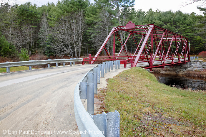 Ryefield Bridge in Otisfield, Maine. This is the last remaining suspension bridge of its style in the State of Maine and it is listed on the National Register of Historic Places.