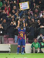 Luis Suarez celebrates after scoring a goal <br /> 07/12/2019 <br /> Barcelona - Maiorca<br /> Calcio La Liga 2019/2020 <br /> Photo Paco Largo Panoramic/insidefoto <br /> ITALY ONLY