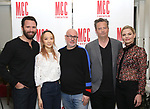 Quincy Dunn-Baker, Sue Jean Kim, Lindsay Posner, Matthew Perry and Jennifer Morrison attend 'The End Of Longing' cast photocall at Roundabout Rehearsal Studio on April 20, 2017 in New York City.