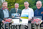 Killarney Ruby Club are continuing to fund-raise to offset the cost of setting up a permanent base for the club in Killarney. .They have officially launched the Killarney Rugby Club calendar which portrays club players in their home and work surroundings. .L-R Youth Coach Fergus Cronin, Treasurer Mike Walker, Chairman LIam McGuire and President Junior Finnegan.