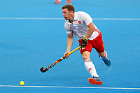 Michael Hoare of England in action during the Hockey World League Semi-Final match between England and Netherlands at the Olympic Park, London, England on 24 June 2017. Photo by Steve McCarthy.