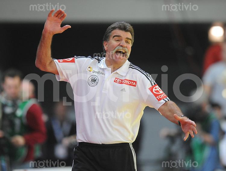 Handball EM Herren 2010 Vorrunde Slowenien - Deutschland 20.01.2010 Heiner Brand (Trainer GER)