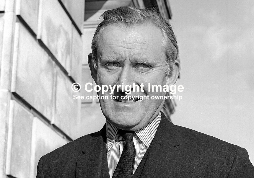 Major James Chichester-Clark, Minister of Agriculture, Stormont Parliament, N Ireland, UK, June 1967. 196706000117a<br />