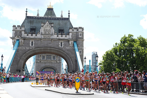 General view, <br /> AUGUST 6, 2017 - Athletics : <br /> IAAF World Championships London 2017 <br /> Women's Marathon <br /> in London, UK. <br /> (Photo by YUTAKA/AFLO SPORT)