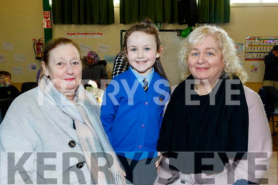 Presentation Primary school, Tralee held their Grandparents day last Tuesday, Feb 11, pictured are Margaret O'Mahony with her grand daughter Leah O'Sullivan with Breda Farrell.