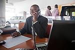 Patrick Mugalo, lead salesman for Nissan line of passenger vehicles at DT Dobie, Nairobi, Kenya's elite new car dealership.