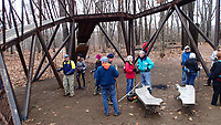 NWA Democrat-Gazette/FLIP PUTTHOFF <br /> The Hill 'N Dale group takes a break Jan. 1 2019 at a bicycle skills area at the top of Coler Mountain Bike Preserve.