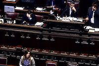 Roma, 13 Febbraio 2015<br /> Camera dei Deputati<br /> Voto degli emendamenti sulla riforma della costituzione.<br /> La Ministra Maria Elena Boschi