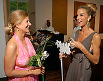 Leslie Elkins Sasser and Janet Hobby chat at the 20th Anniversary Gala at the Menil Friday April 20,2007.(Dave Rossman/For the Chronicle)