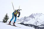 08/12/2017, Hochfilzen - IBU World Cup Biathlon 2018.<br /> Biathlon 10 km sprint race in Hochfilzen, Austria on December 8, 2017; Martin Fourcade