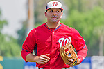 20 March 2015: Washington Nationals infielder Danny Espinosa returns to the dugout prior to a Spring Training game against the Houston Astros at Osceola County Stadium in Kissimmee, Florida. The Nationals defeated the Astros 7-5 in Grapefruit League play. Mandatory Credit: Ed Wolfstein Photo *** RAW (NEF) Image File Available ***