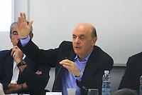 """SAO PAULO, SP, 17 SETEMBRO 2012 - ELEICOES SP - JOSE SERRA  - o candidato do PSDB à Prefeitura de São Paulo, José Serra, participará do """"Ciclo de Debates - A Construção do Desenvolvimento Sustentado"""", no Instituto de Engenharia no bairro da Vila Mariana regiao sul da capital paulista, nesta segunda-feira, 17. (FOTO: RODRIGO PIANNO / BRAZIL PHOTO PRESS)."""