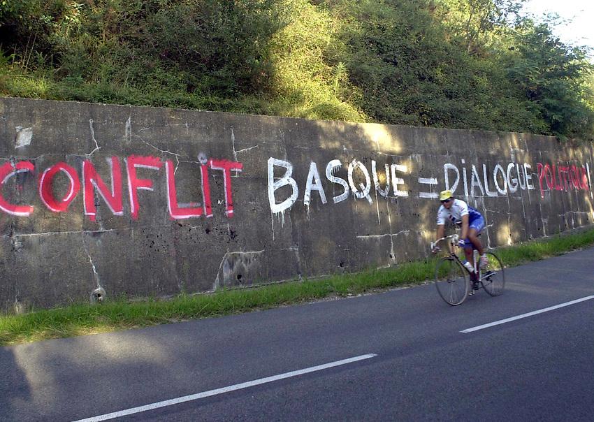 Photo: Ander Gillenea.<br /> Sara, graffiti Basque Country. Sare Pays Basque.