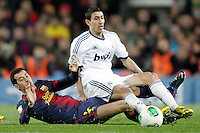 FC Barcelona's Sergio Busquets (l) and Real Madrid's Angel Di Maria during Copa del Rey - King's Cup semifinal second match.February 26,2013. (ALTERPHOTOS/Acero) /Nortephoto