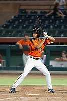 AZL Giants left fielder Aaron Bond (38) at bat against the AZL Padres 2 on July 13, 2017 at Scottsdale Stadium in Scottsdale, Arizona. AZL Giants defeated the AZL Padres 2 11-3. (Zachary Lucy/Four Seam Images)