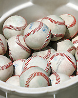 Baseballs. Photo by Andrew Woolley / Four Seam Images.