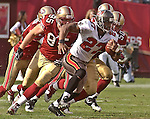 Tampa Bay Buccaneers running back Aaron Stecker (27) on Sunday, October 19, 2003, in San Francisco, California. The 49ers defeated the Buccaneers 24-7.