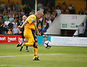 Andy Parkinson of Cambridge United scores the second goal during the Blue Square Premier match between Cambridge United and Gateshead at the Abbey Stadium, Cambridge on 29th August, 2009..© Kevin Coleman 2009 ....