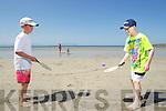 John Dalyand Jack Manley enjoying Ballyheigue Beach in the Sunshine.
