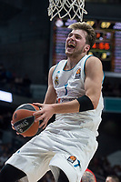Real Madrid Luka Doncic during Turkish Airlines Euroleague match between Real Madrid and Crvena Zvezda at Wizink Center in Madrid, Spain. December 01, 2017. (ALTERPHOTOS/Borja B.Hojas)