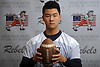 Joe Huang, wide receiver on Great Neck's football team, poses for a portrait at Great Neck South High School on Tuesday, Dec. 11, 2018.