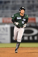 Daytona Tortugas first baseman Sammy Diaz (10) runs the bases after hitting a home run during a game against the Tampa Yankees on April 24, 2015 at George M. Steinbrenner Field in Tampa, Florida.  Tampa defeated Daytona 12-7.  (Mike Janes/Four Seam Images)
