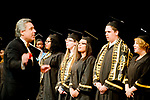 WATERBURY, CT-062017JS14- Waterbury Career Academy graduates and members of the WCA Chorus, sing the Star Spangled Banner during graduation ceremonies Tuesday at the Palace Theatre in Waterbury. <br /> Jim Shannon Republican-American
