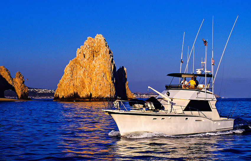 Land's End at the confluence of the Sea of Cortes and Pacific Ocean, Cabo San Lucas, Los Cabos,  Baja California, Mexico