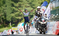 stage winner &amp; new overall leader (by 1 sec) Adam Yates (GBR/Orica-GreenEDGE)<br /> <br /> Tour of Turkey 2014<br /> stage 6