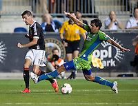 Chester, PA - September 16, 2014: The Seattle Sounders defeated the Philadelphia Union 3-1 during the Lamar Hunt US Open Cup Final at PPL Park.