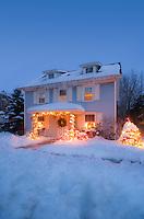 Seasonal decorated house, Lumberton, New Jersey