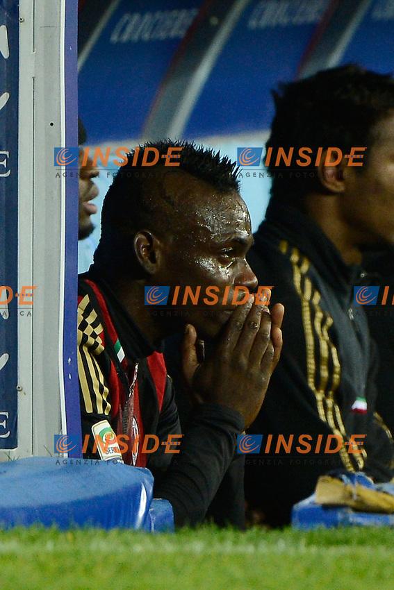 Mario Balotelli Milan crying for losing the game<br /> Napoli 08-02-2014 Stadio San Paolo - Football 2013/2014 Serie A. Napoli - Milan Foto Insidefoto