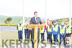 The official opening of the N86 Lispole to Ballynasare Lower and Ballygarret to Camp Road Improvement Scheme by Mr. Brendan Griffin, T.D., Minister of State for Tourism & Sport on Tuesday.