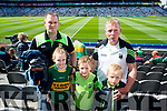 David and Rebecca Kearney (Killarney) with Seamus and Cathal Cronin, (Rathmore), pictured at the Kerry v Mayo all Ireland semi-final re-play in Croke Park, on Saturday last.