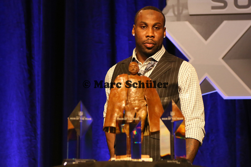 WR Anquan Boldin (San Francisco 49ers)- Walter Payton Man of the Year Award, Super Bowl XLIX, Convention Center Phoenix