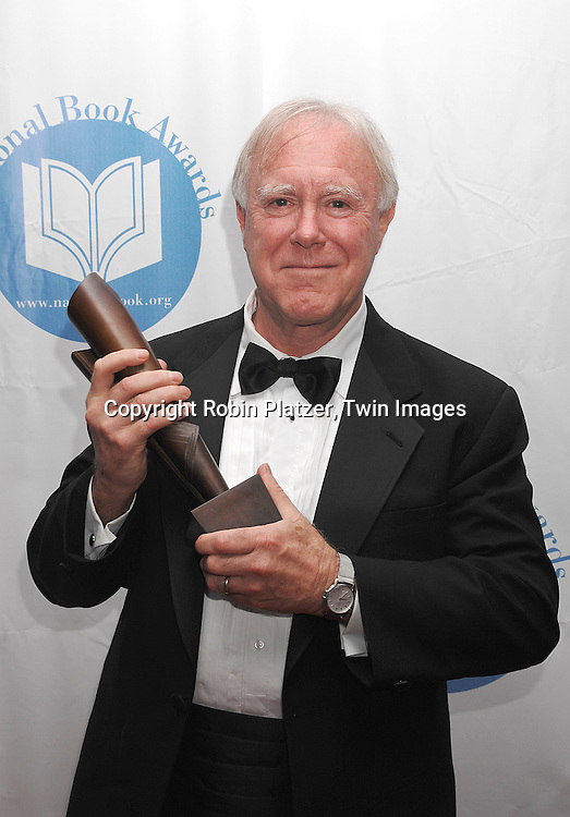 "Robert Hass, winner of the Best Poetry Award for his ..book "" Time and Materials""..at The National Book Awards on November 14, 2007 at ..the Marriott Marquis Hotel in New York, The event was hosted by Fran Lebowitz...Robin Platzer, Twin Images......"