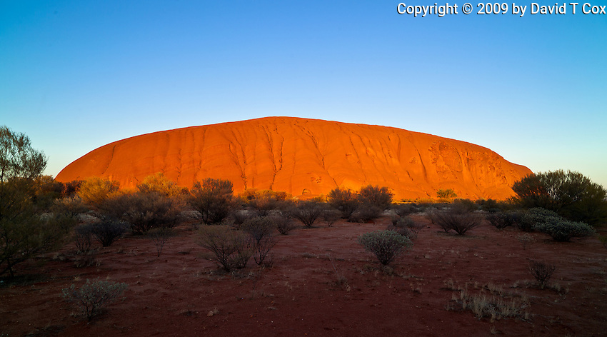 Uluru aka Ayer's Rock at sunrise, NT Outback, Australia