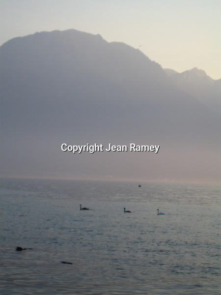 Lady in Blue, Lake Geneva