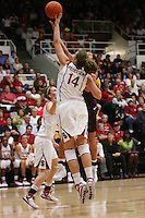 STANFORD, CA - NOVEMBER 14:  Kayla Pedersen of the Stanford Cardinal during Stanford's 68-55 win over the Minnesota Golden Gophers on November 14, 2008 in Stanford, California.