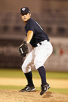 July 10, 2009:  Pitcher Jonathan Hovis of the Tampa Yankees during a game at George M. Steinbrenner Field in Tampa, FL.  Tampa is the Florida State League High-A affiliate of the New York Yankees.  Photo By Mike Janes/Four Seam Images