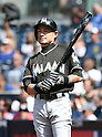 Ichiro Suzuki (Marlins), JUNE 15, 2016 - MLB : Ichiro Suzuki of Miami Marlins prepares to bat in the ninth inning during the Major League Baseball game between the San Diego Padres and the Miami Marlins  at PetCo Park in San Diego, California, United States. (Photo by AFLO)