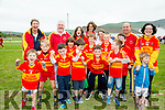 Enjoying the sport at the Féile in Cahersiveen on Saturday were the Valentia Young Islanders pictured front l-r; Jack O'Connell, Evan Daly, Cian O'Sullivan, Dervla Healy, Óisín O'Connell, Philip Daly, Donnagh O'Sullivan, Fionán Healy, Aidan O'Connell, Kevin O'Connell, Tadhg O'Connell, back l-r; Abina O'Connor, Mick Duffy,Emma O'Connor, Caroline Daly, Hannah Healy, Anthony O'Sullivan & Karen O'COnnell.